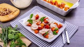 Индейка в горчично-медовом соусе с бататом - доставка продуктов с рецептами Шефмаркет