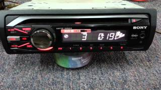 Preowned Sony CDX-GT290 Single Disc Player