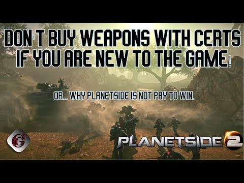 For the love of all things good and holy don't buy weapons with certs if you are new to Planetside!