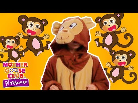 Five Little Monkeys Jumping On The Bed | Children Nursery Rhyme Songs | Mother Goose Club Playhouse