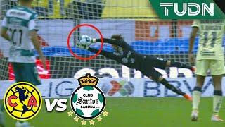 ¡Atajadón! ¡Ochoa ya es factor!  | América 0 - 0 Santos | Liga MX - Ap19 - J17 | TUDN