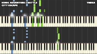 sonic adventure 2 battle city escape awesome for piano