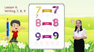 Math For Kids   Lesson 6. Writing 7, 8, 9 - Writing Numbers   Kindergarten