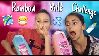 Rainbow Milk Challenge - Ft.Timmy Spiegz