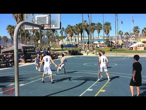 Pacifica Christian High School maintains tradition of league game at Venice Beach basketball courts