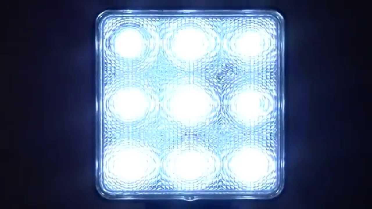 Ultra Tow 12 Volt Led Flood Light 27 Watt 9 Leds 2150