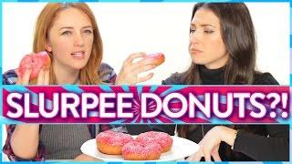 SLURPEE DONUT?!? | Taste Test
