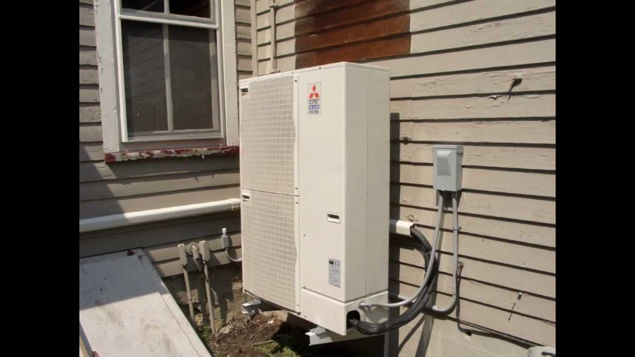 Mitsubishi 17 Seer 48k Five Zones Heat Pump System