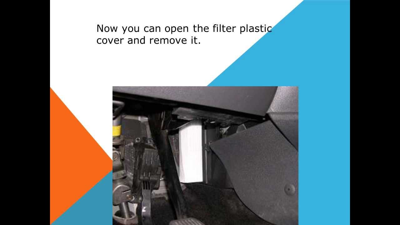 How to replace the air cabin filter dust pollen filter on for Interieur filter