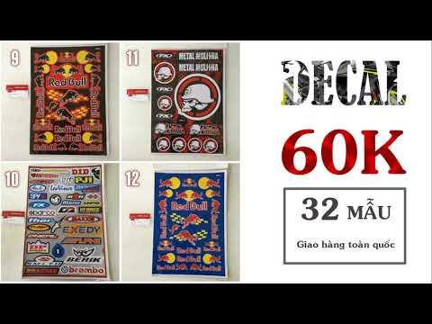 Bảng Decal - Sticker dán xe moto giá chỉ 60.000đ | VN RIDE