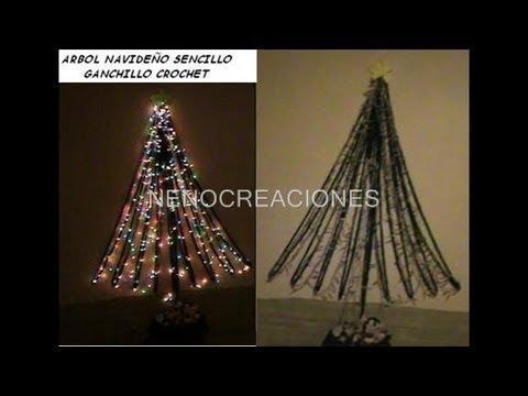 Arbol y tejidos navide os decoracion sencilla ganchillo for Adornos navidenos tejidos a crochet 2016