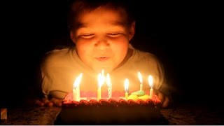 Birthday Kid Can't Blow Out Candles!
