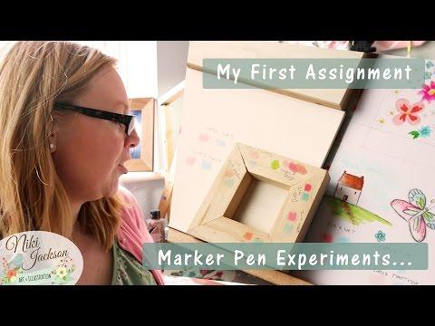 Marker Pen Techniques - Illustration Degree Assignment