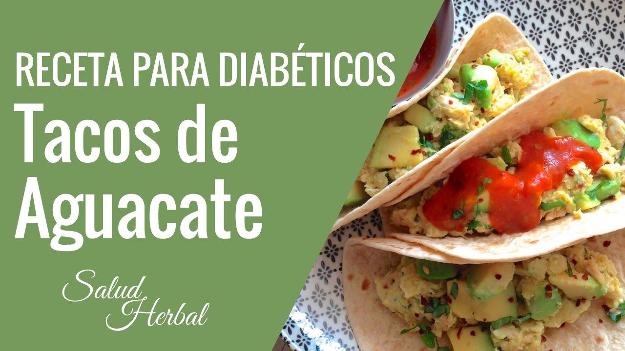Recetas de Almuerzos para Diabeticos | Tacos De Aguacate