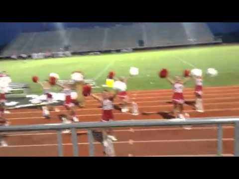 Golden Meadow middle school cheerleading squad