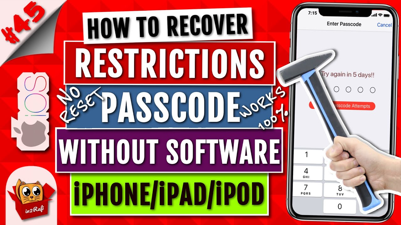 How to reset an ipad without restrictions passcode | How to Reset