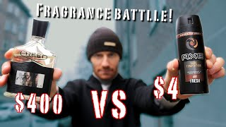 Creed Aventus Vs Axe Body Spray 400 vs 4 fragrance battle