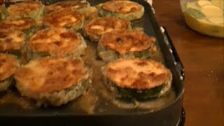 Basic Cooking Lessons - #2 Fried Zucchini Rounds On A Griddle Or Frying Pan