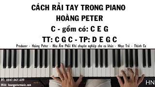 Hướng dẫn: RẢI TAY TRONG PIANO - 01 - l C - CM7 - C7 l - HOÀNG PETER