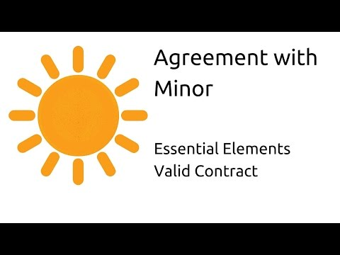 contract of a minor Yes, a minor can legally enter into a contract however, whether the contract is enforceable will depend on a number of factors the terms minor and infant are used in law to describe a person who is under the legal age of an adult in nearly all cases, an adult is a person who is.