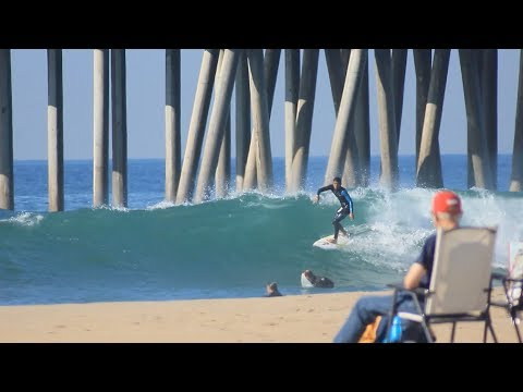 Surfing HB Pier   February 1st   2018 (RAW)