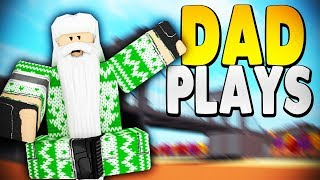 TEACHING MY DAD HOW TO PLAY *TROLLING* | Super Power Training Simulator (ROBLOX)