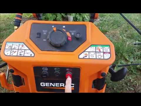 Generac One wash power washer demonstration and review