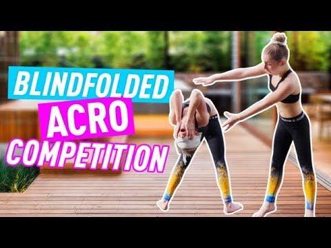 Trying Blindfolded Acro Gymnastics | Jaz and Brooke