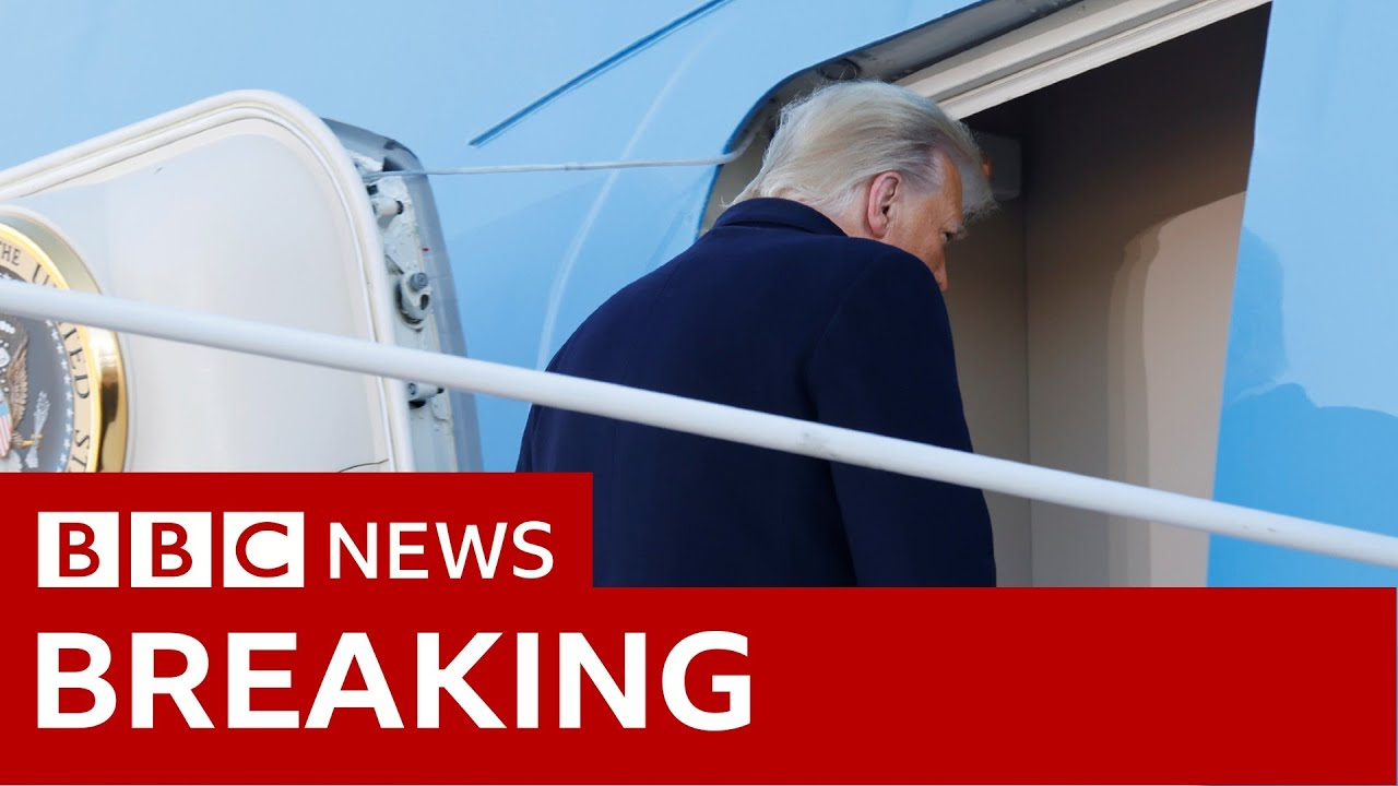 Download Trump departs for Florida on Air Force One - BBC News