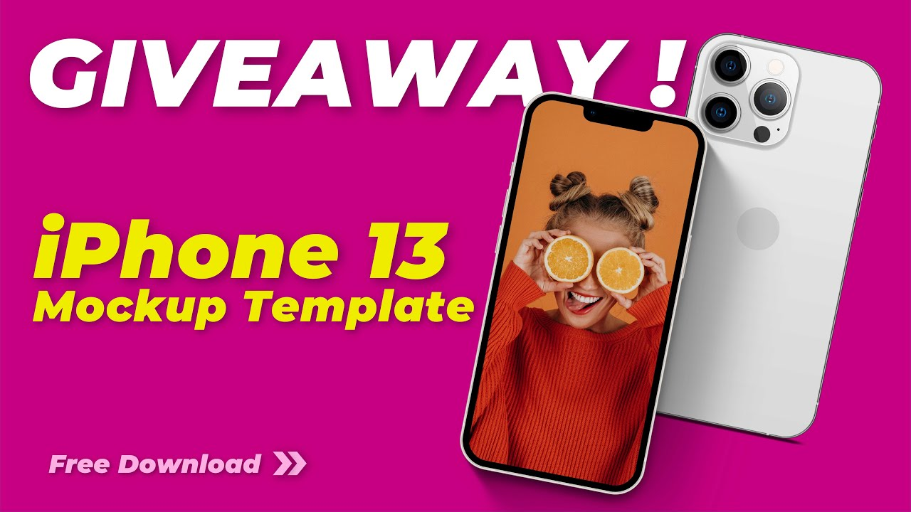 iPhone 13 Mockups Template [FREE GIVEAWAY and mini tutorial]