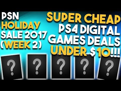 10 SUPER CHEAP PS4 Digital Games UNDER $10 Right Now! (Playstation 4 HOLIDAY SALE Deals Week 2)