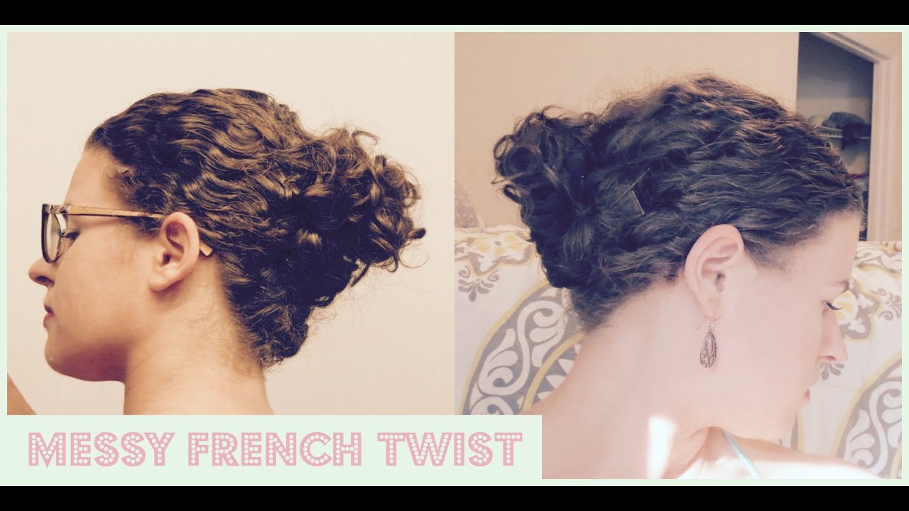Curly Hair French Twist Updo