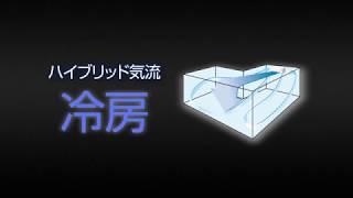 エアコン機能紹介  ハイブリッド気流   富士通ゼネラル