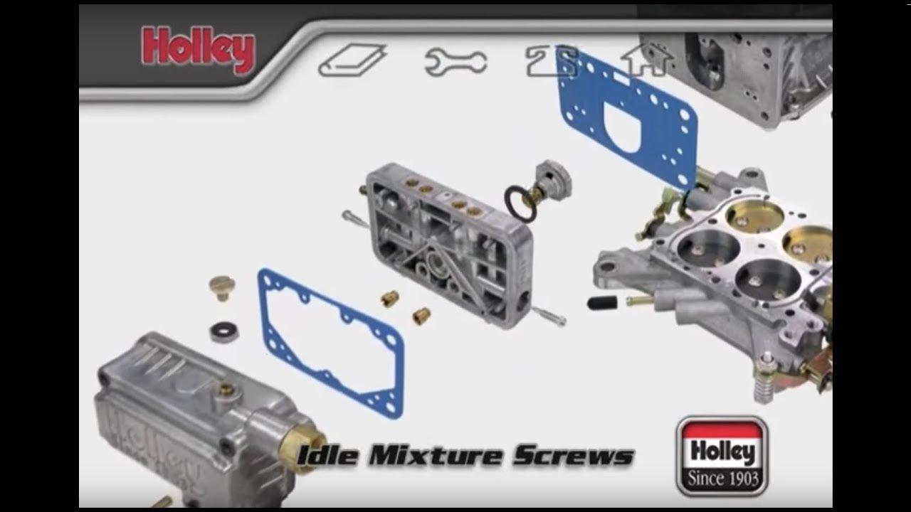How To Adjust The Idle Mixture Screws On Holley Carburetors Youtube Evinrude Trim Gauge Wiring Diagram
