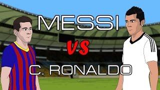 MESSI vs C. RONALDO ( dibujos animados )