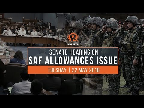 LIVE: Senate hearing on SAF allowance issue