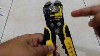 Automatic Wire Stripper + Crimper + Cutter Unboxing and Review (From AliExpress)