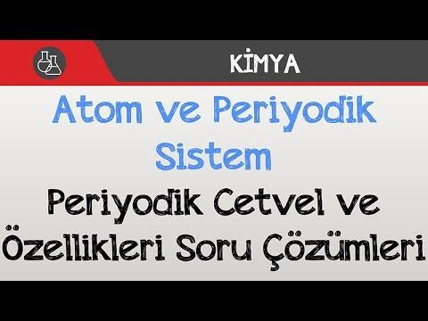 Atom ve Periyodik Sistem - Periyodik Cetvel ve Özellikleri Soru Çözümleri