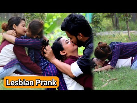 Lesbian Hard Kissing Prank (gone Romantic) Real Kissing Prank | RV Teams 2.0