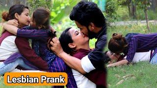 Lesbian Hard Kissing Prank (gone romantic) real kissing prank | RV Teams 2.0