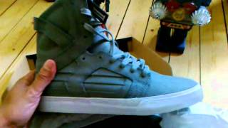 Unboxing Supra Skytop II Grey Waxed Canvas