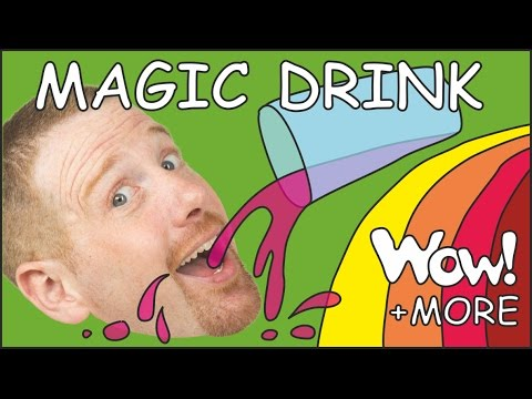 Magic English Drink for kids + MORE   English stories for children   Steve and Maggie
