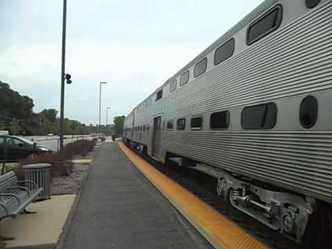 METRA Commuter Train Arrivng At Ingleside, IL