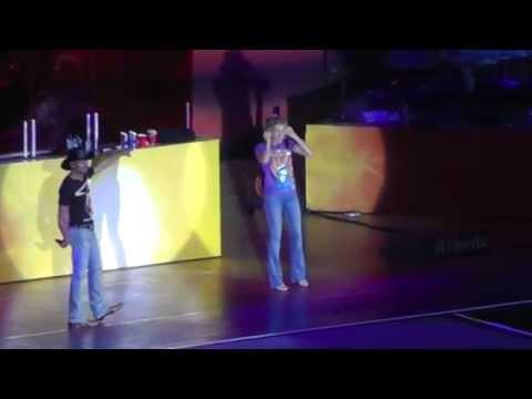 Faith Hill Chokes Up Singing