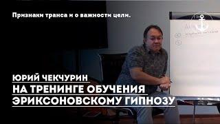 Признаки транса и о важности цели. Юрий Чекчурин тренинг обучение эриксоновскому гипнозу.