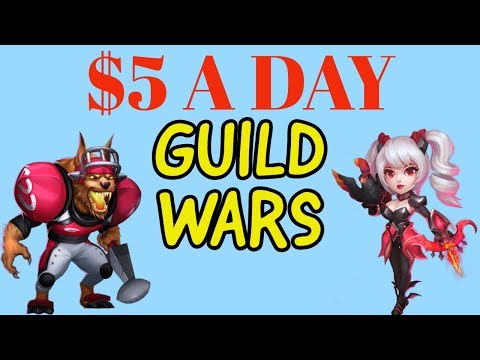 $5 A DAY. 1 FOR 1 PACKS. GUILD WARS. CASTLE CLASH.