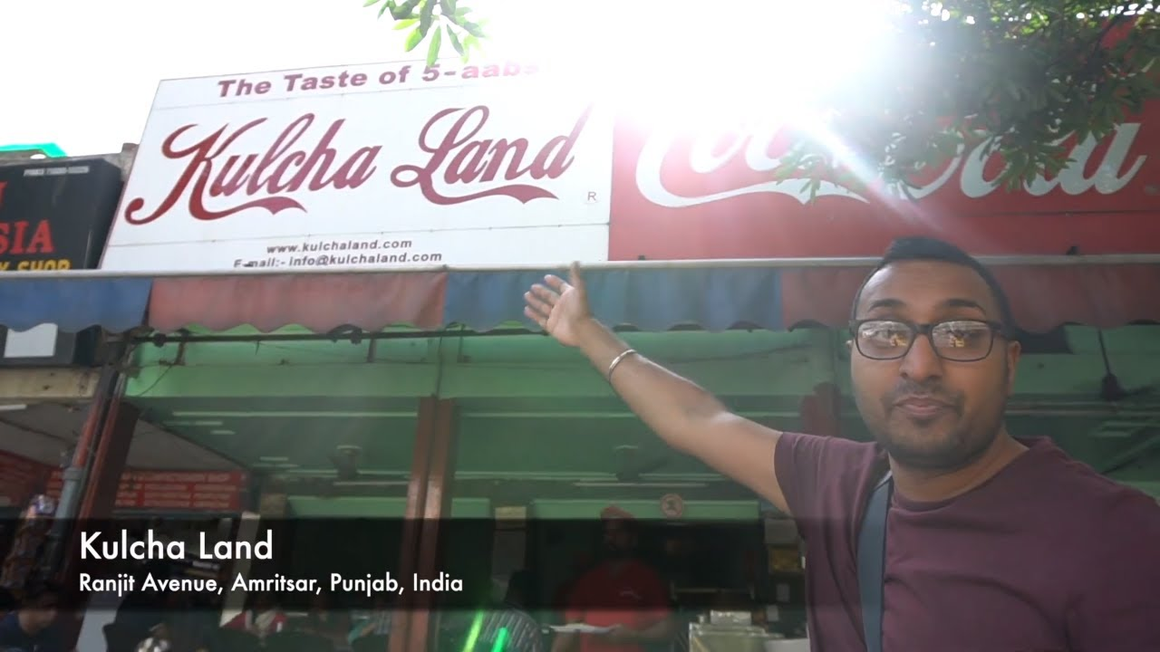 INDIAN STREET FOOD TOUR in AMRITSAR, PUNJAB, INDIA   AMRITSARI KULCHA   BEST STREET FOOD IN INDIA