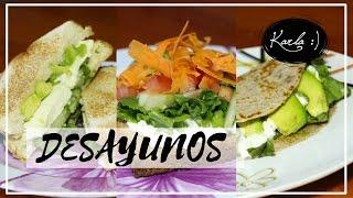 Desayunos Saludables, Fáciles y Rápidos / Healthy Breakfast Ideas | #FemLife :)