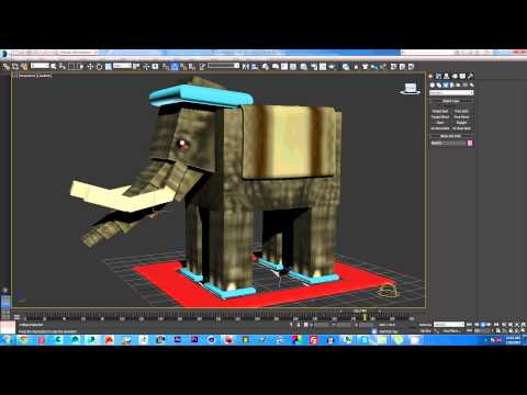 3dsmax Minecraft Mo Creature Elephant Rig Giveaway (Free Download)