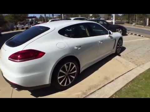 auto dealer video walk around 2015 porsche panamera s pristine white v6 twin turbo tts